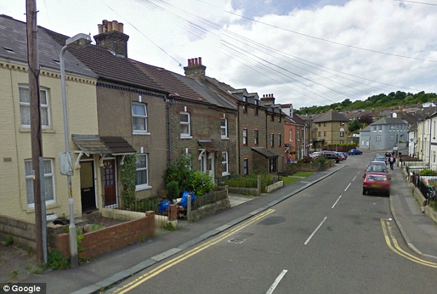 Quiet road: East Street in Dover is at the centre of a murder enquiry after a man was found dead