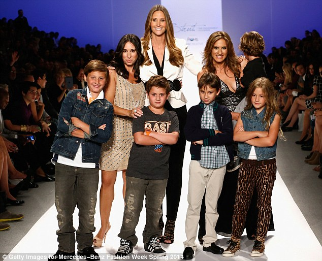 Big night: This show features real moms walking the runway; pictured, L to R, are Denise Albert, Stephanie Winston Wolkoff and Melissa Gerstein and models