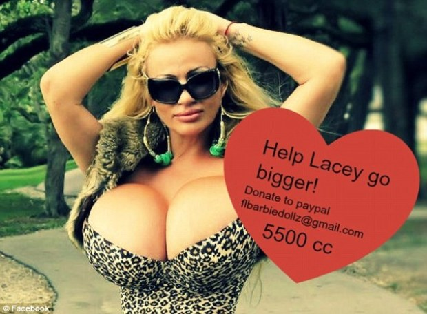 Bigger? Ms Wildd said that she is 'nervous' about her surgery, paid for by internet donations