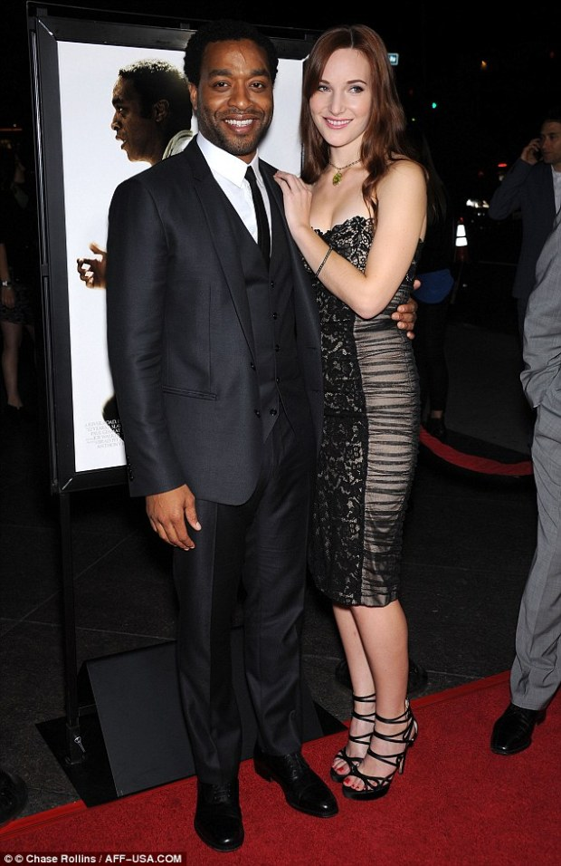 Leading man: Chiwetel Ejiofor attends a screening and Q&A for new film 12 Years A Slave at the Directors Guild of America with girlfriend Sari Mercer