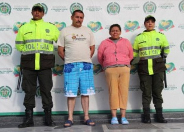 Margarita de Jesus Zapata Moreno, 45, (second right) is accused of selling the virginities of her 12 young daughters