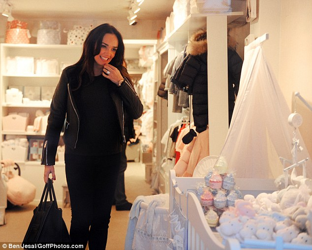 excited pregnant tamara ecclestone wears a beaming smile as she shops for baby items at upscale furniture