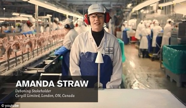 Amanda Straw explains how McDonald's de-bones its chicken and tells diners what goes it and what doesn't
