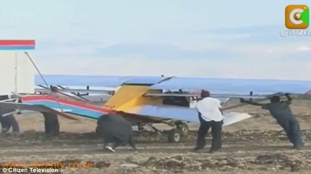Failure: Just as the flight looked like a success, the plane's landing gear began to buckle under its weight