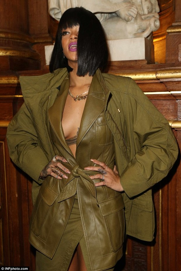 Bra-less: The singer doesn't like to wear any support for her chest when she wears a top