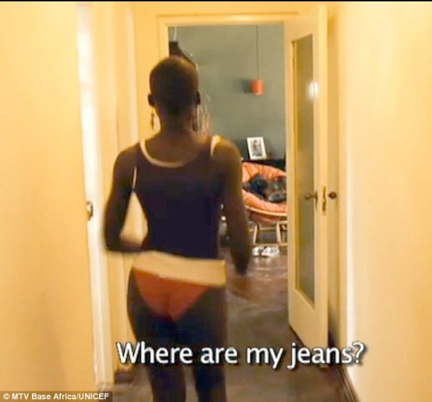 'Where are my jeans?' Between school, a waitress job, a boyfriend, and supporting her mother - Nyong'o is literally rushing from scene to scene, even in her panties