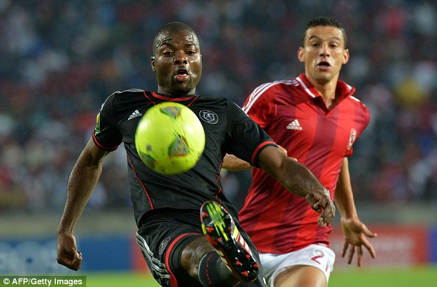 On the ball: Pirates defender Mahamutsa has won three caps for South Africa