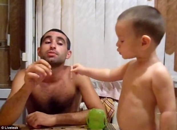 'Role models': The child can be seen 'smoking' the cigarette several times during the two-minute film