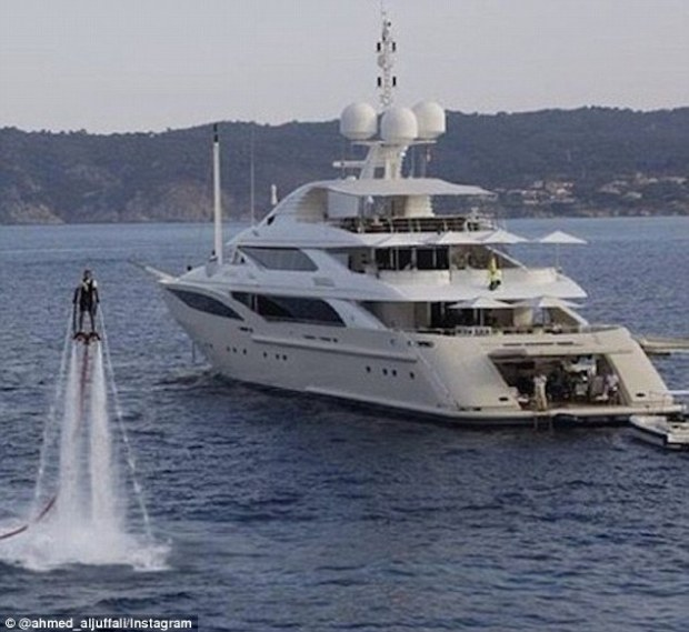 'Takeoff! #yachtlife #cannes,' wrote Ahmed Aljuffali on this image he posted on his Instagram