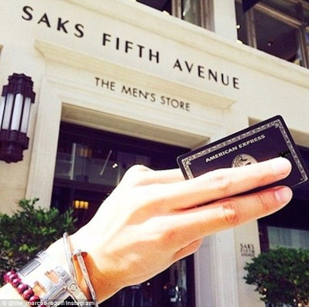 Before 17-year-old Marcus Adolf drove his BMW X3 to the Hamptons for the summer, he took his Black Card for a spin at Saks Fifth Avenue in San Francisco