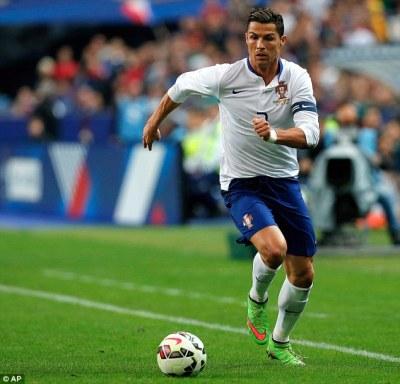Cristiano Ronaldo set to reach 100 million Facebook followers | Daily Mail Online