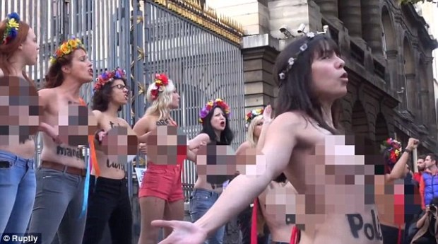 At least 25 Femen members were arrested after rallying against the sentence given to activist Iana Zhdanova