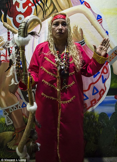 Costume:The lakeside town of Catemaco on Mexico's Gulf Coast is a destination for many 'pilgrims' who come in search of spiritual experiences