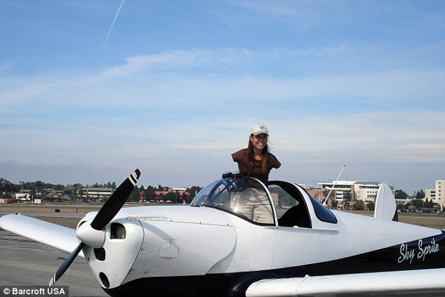 Flying high: It took her three years to achieve it but Jessica set her heart on becoming a pilot