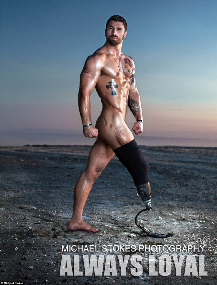 Snapping away: Since then, Michael has photographed wounded veterans like BT Urruela (pictured) for his photo series