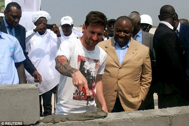 PHOTOS: Messi was paid £2.4million to visit Gabon as a guest of Gabon President Ali Bongo