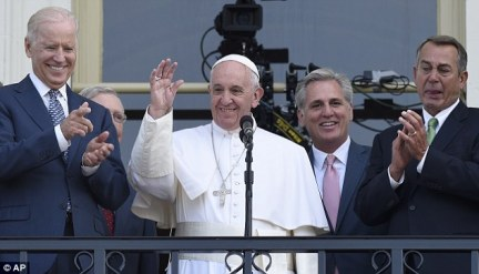 No wonder Boehner was crying. The fellow Catholic had just listened to a blistering speech from the Holy Father that ripped almost all the GOP's stances