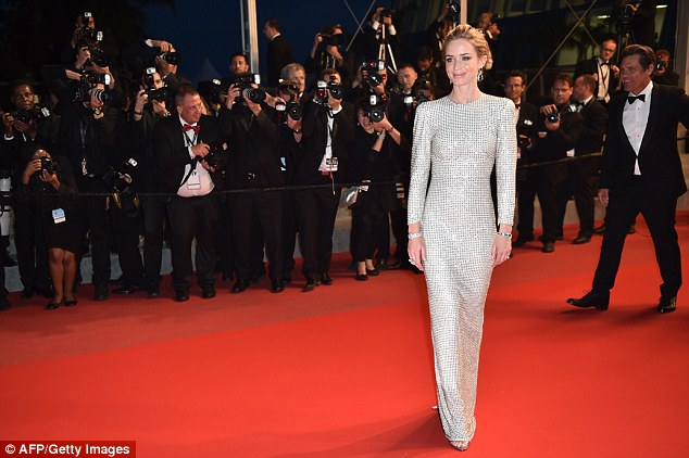 Blunt, pictured at the 68th Cannes Film Festival in Cannes, where Sicario was screened