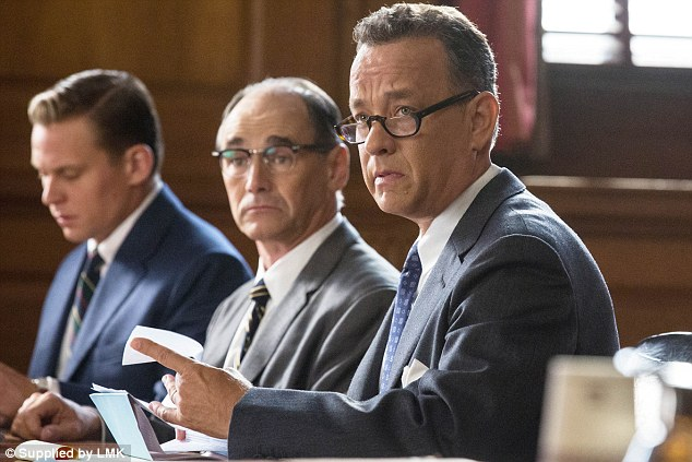 Tom Hanks and Mark Rylance In the ©20th Century Fox promo for the new film Bridge of Spies