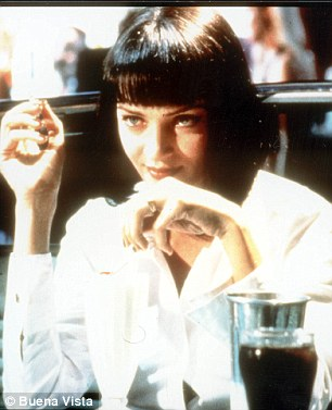 Iconic:The duo were acting out the famous dance scene from the 1994 Quentin Tarantino movie where Travolta played Vincent Vega and Thurman played Mia Wallace and danced together at the fictional Jack Rabbit Slim's diner
