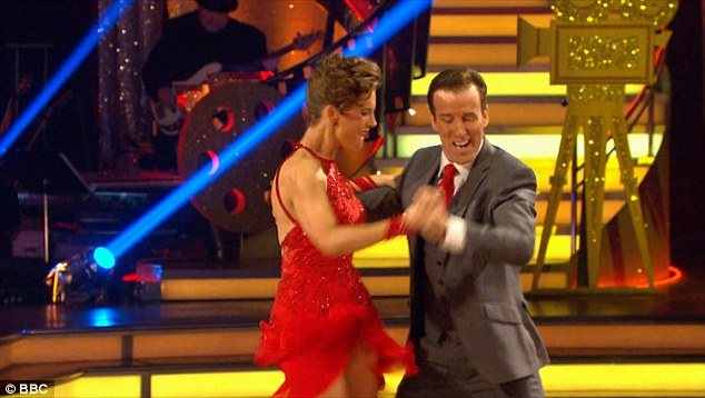 Pretty lady:Newscaster Katie Derham and Anton Du Beq were dancing a Pretty Woman-themed Cha Cha to Roy Orbison's 1965 track of the same name