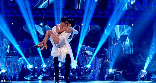 Romantic:The One Show presenter Anita Rani performed with Gleb Savchenko who danced to the theme of Ghost with Demi Moore, who famously sat at a pottery wheel with Patrick Swayze