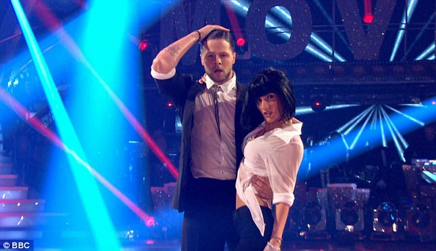 Slick:The Wanted singer, 25, received a standing ovation from the audience after he got into character as John Travolta and danced opposite his partner Aliona Vilani, who did her best Uma Thurman impression