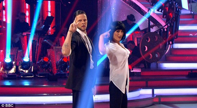 Incredible:Jay McGuiness clearly proved he is a blockbuster unto himself as he received an eye-watering 37 points for his jaw-dropping Pulp Fiction-themed Jive on the BBC show