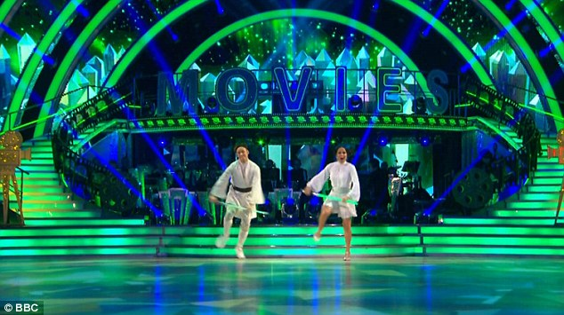 Strictly Star Wars! Kellie Bright showed she can truly have it all when she wowed judges on Saturday night's episode of the BBC1 show - dancing all the way to second place on the leader board