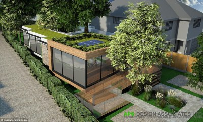 Architects build eco-friendly home AROUND trees to avoid ...