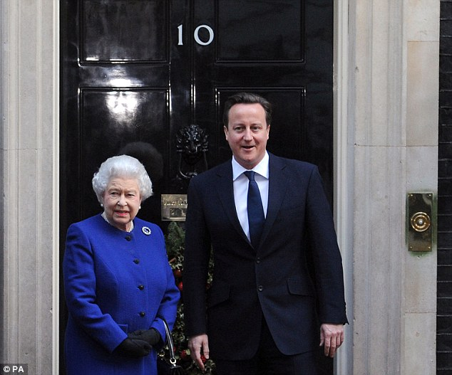 The Queen of England is said to believe marriage should be between a man and a woman, while Prime Minister David Cameron, right, said he thought it was 'right' gay people should be allowed to marry