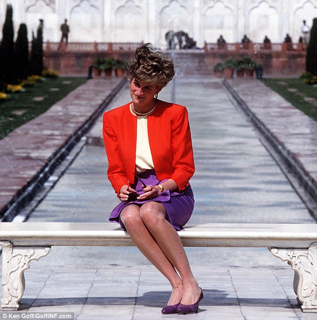 The bench Princess Diana was sitting on was the seat on which 12 years earlier a single Charles had posed and vowed to return one day with a bride