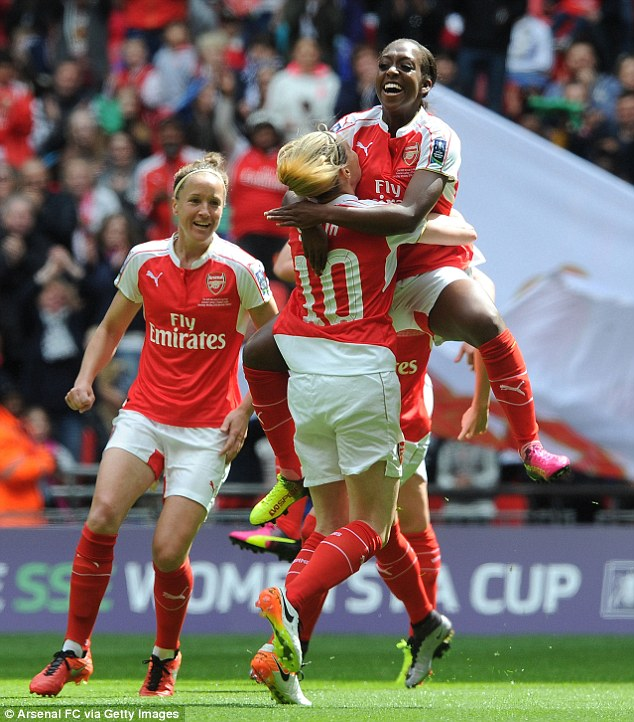 Her goal put Arsenal on their way to winning their 14th FA Cup, which is more than any other side in women's football