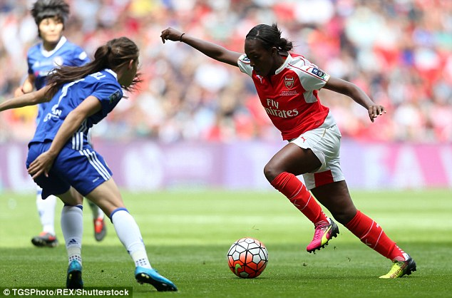 Carter started her run from outside the penalty area before she took the ball past several Chelsea players