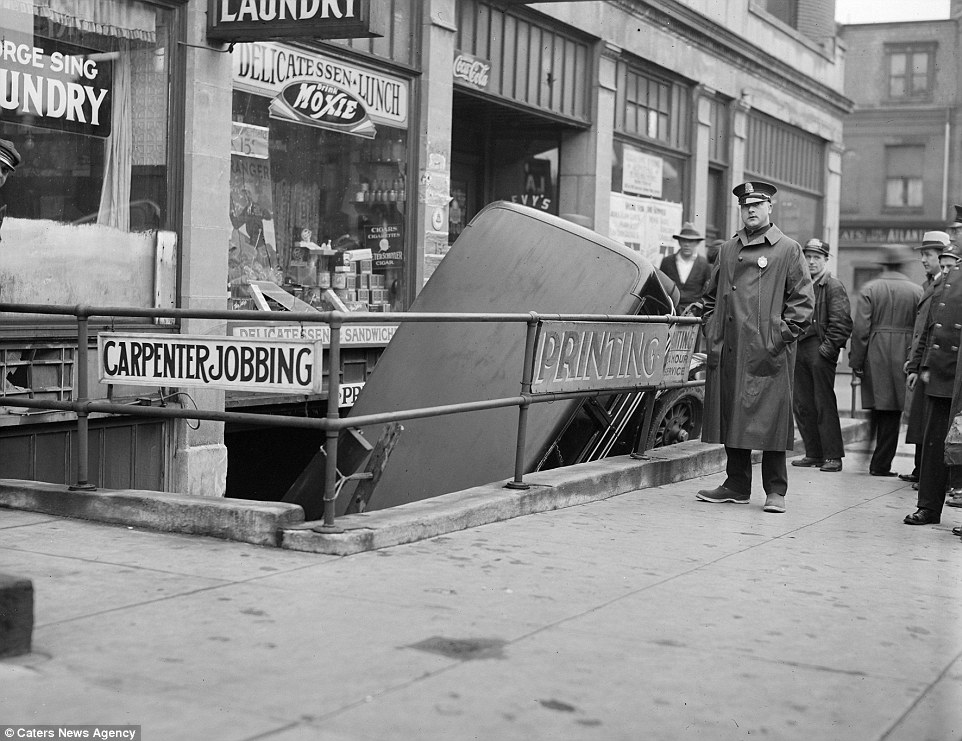 The 1930s were a decade of advancement in the motor industry with additions like hydraulic breaks coming into use - however, this motorist seems like they may have had their foot on the gas pedal rather than the break
