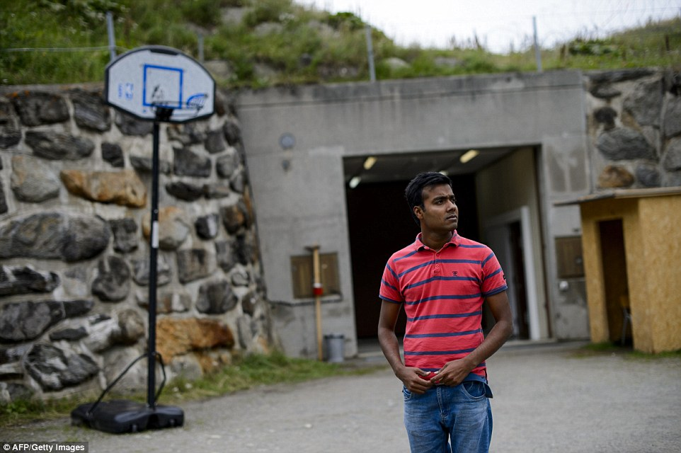 Disquiet: Brentgarten, the nearest town, tried to segregate its 150 asylum seekers and stop them gathering in numbers at the local swimming pool and sports centre. A church was also placed off limits leading to an outcry from human rights groups