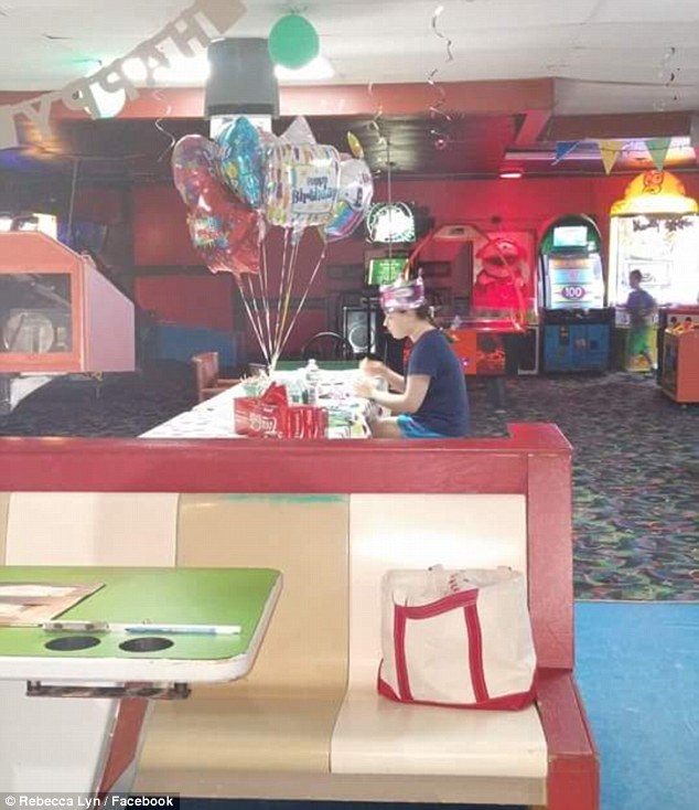 Devastating: Hallee Sorrenson invited all her friends and classmates to her 18th birthday party last year but was forced to sit alone at her table when none of them turned up