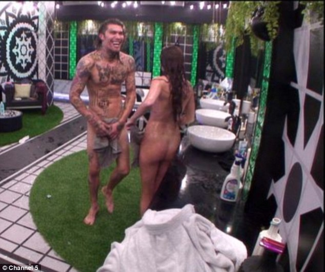 Naked ambition: As their housemates stayed out of the way, the pair showed no signs of keeping their passionate display private, continuing to run around the house nude
