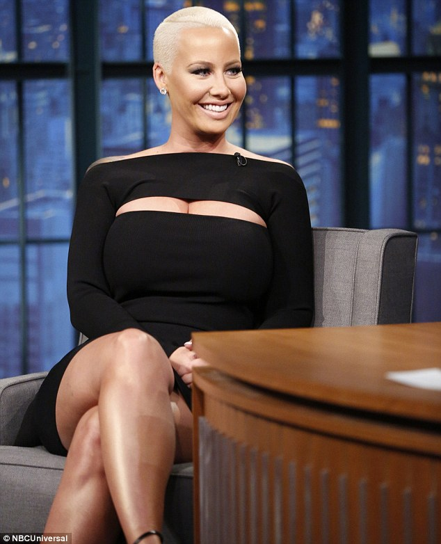 Host to host: Amber Rose visited Late Night With Seth Meyers on Thursday to promote her new chat show on VH1