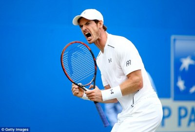 Andy Murray survives slip to reach Queen's semi-finals after storming past fellow Brit Kyle ...