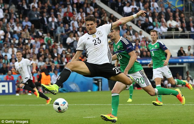 Mario Gomez provided Germany with a focal point and netted the only goal against Northern Ireland