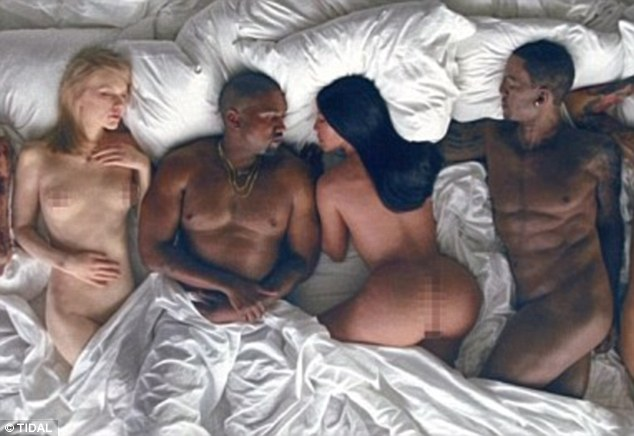 Controversial: Ray J was upset to see a waxwork likeness (right) alongside those of Kim Kardashian, Kanye West and Taylor Swift in the rapper's video for Famous
