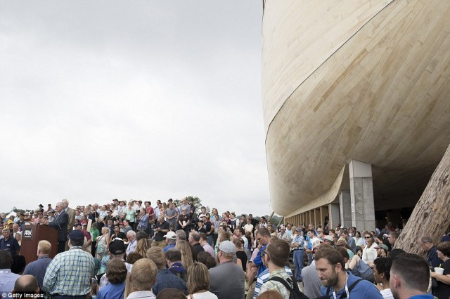Australian Ken Ham (at, president of Answers in Genesis, the ministry that built the ark, said he believed it would be one of the 'greatest Christian outreaches of this era in history.