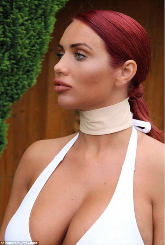 Taking the plunge: The former TOWIE star, 26, was keen to share memories of her fun-filled holiday on the Spanish island, as well as her figure-flaunting collection of swimwear, with her fans