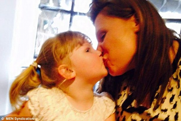 Emma Hambleton said she kisses her five-year-old daughter Hope (pictured together) on the lips every day and said it was 'a sad world' for anyone to see any harm in that