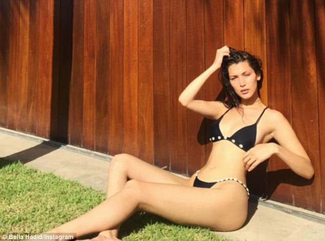 Bikini babe! Bella Hadid shared a sexy Instagram snapshot in a tiny two-piece on Friday