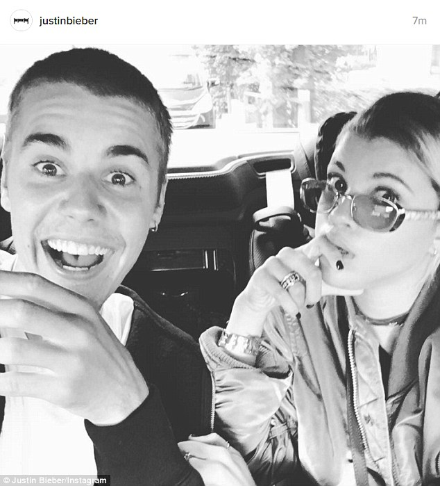 Upset: Justin Bieber warned his fans he'd make his Instagram private after a backlash over his photos with rumored new girlfriend Sofia Richie, pictured in a previous post