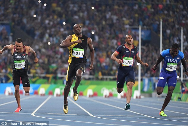 Although billed as the race for the fastest person on Earth, it's questionable whether the 100 metres always produces the fastest performance. Pictured is Usain Bolt winning the men's 100 metres final at the 2016 Olympics in Rio