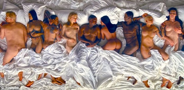 Not real: In fact, despite being featured in Kanye's 'Famous' orgy music video, she says she's never had a threesome