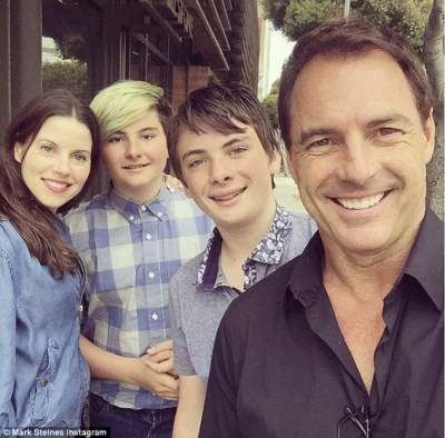 Home And Family's Mark Steines marries Julie Freyermuth at his LA house | Daily Mail Online